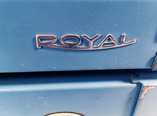 "Royal ""Custom"" from the back (logo detail)..."