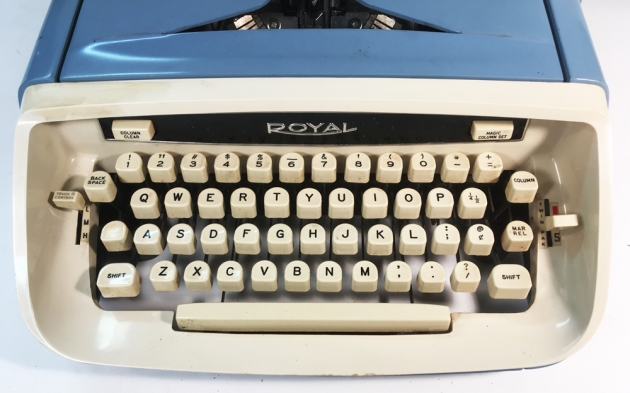 "Royal ""Custom""  from the keyboard..."