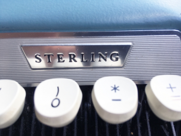 "Smith Corona ""Sterling"" logo on the front..."