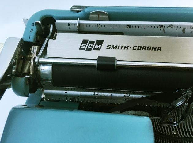"Smith Corona ""Sterling""  from the top (detail)..."
