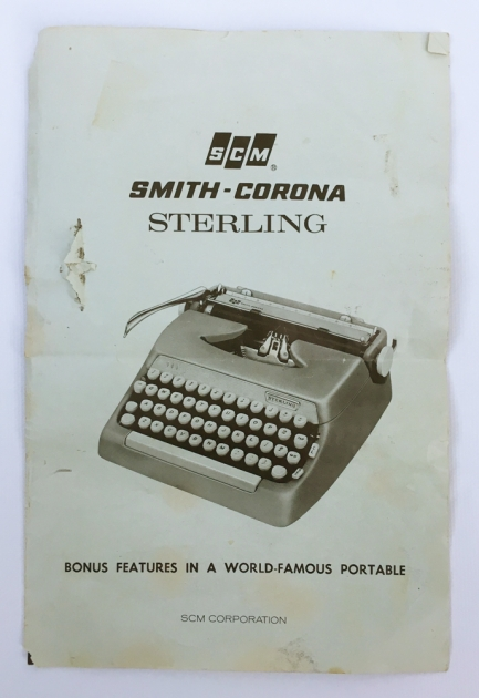 "Smith Corona ""Sterling""  manual included..."