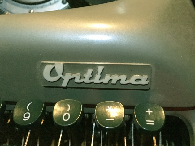 "Optima ""Humber 77"" logo on the front..."