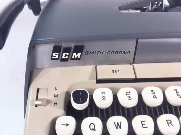 """Smith Corona """"Galaxie Deluxe"""" from the logo on the left side..."""