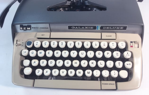"""Smith Corona """"Galaxie Deluxe"""" from the keyboard..."""