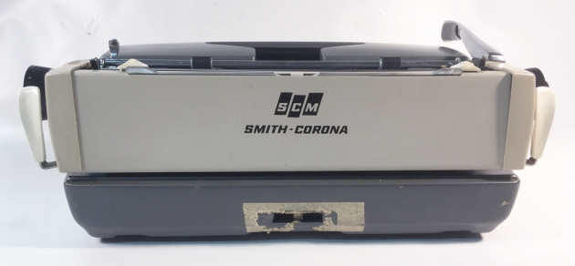 """Smith Corona """"Galaxie Deluxe"""" from the back..."""