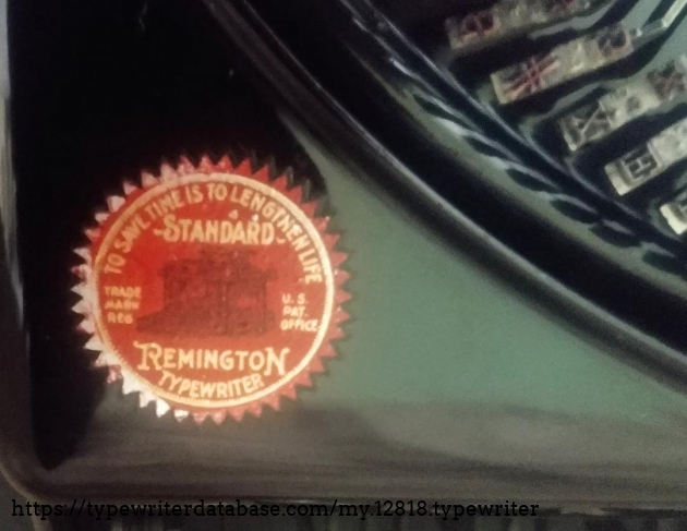 "Remington logo: ""To Save Time  Is To Lengthen Life"""