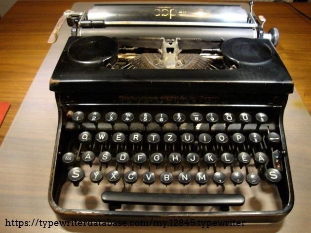 The typewriter as it was when I received it from a good friend who saved it from being scrapped..