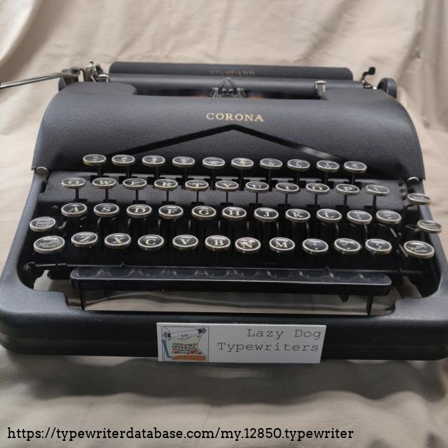 New typewriter shop sticker. It's a magnet...