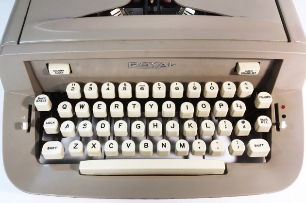 """Royal """"890"""" from the keyboard..."""