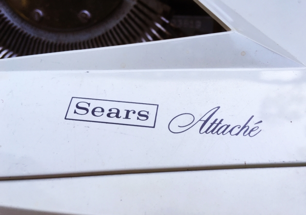 "Sears ""Attache"" logo on the ribbon cover ..."