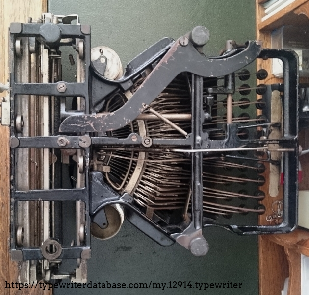 The underside of this typewriter looks like a torture device...