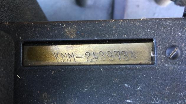 "Royal ""KMM"" serial number location..."