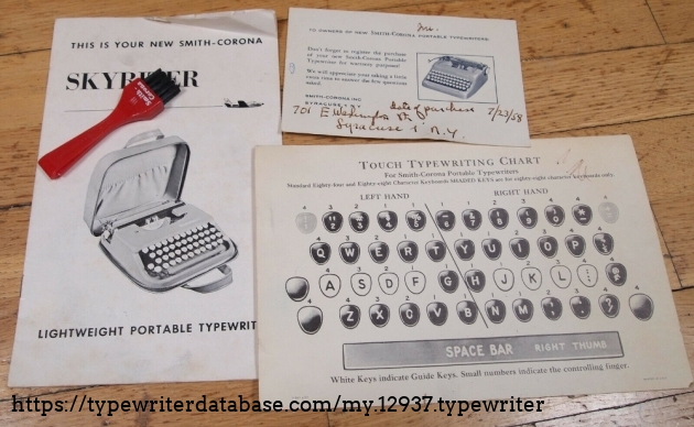 This is the original kit booklets, warranty sheet to practice typing and brush (almost new)
