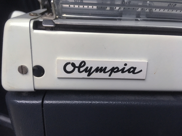 "Olympia ""Monica"" maker name logo on the back..."