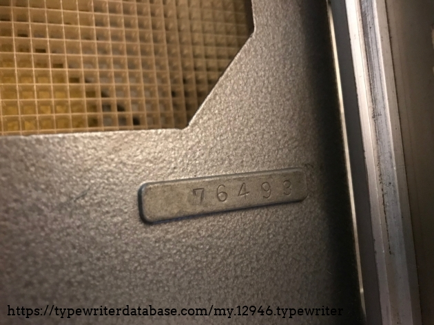 The tray serial number perhaps