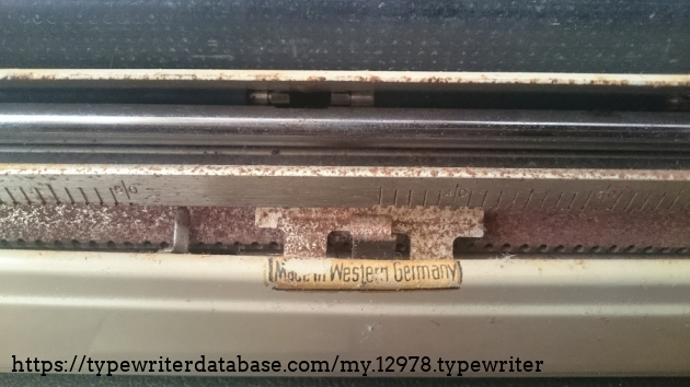 Rust. A lot of it. Besides, the platen isn't like new either...