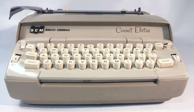 """Smith Corona """"Coronet"""" (Electric) from the front..."""