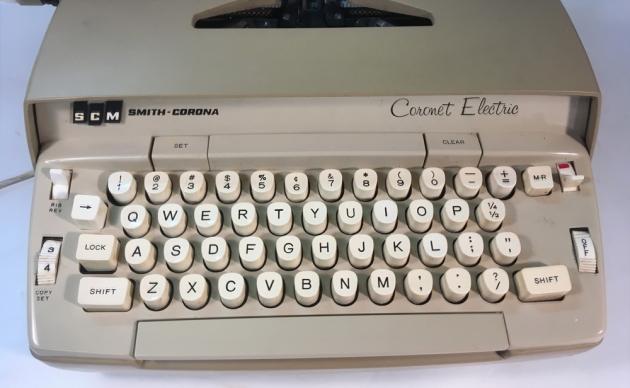 "Smith Corona ""Coronet"" (Electric) from the keyboard..."