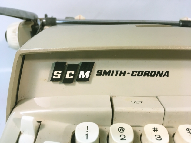 """Smith Corona """"Coronet"""" (Electric) from the logo (left side)..."""