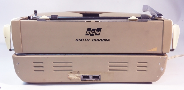"""Smith Corona """"Coronet"""" (Electric) from the back..."""