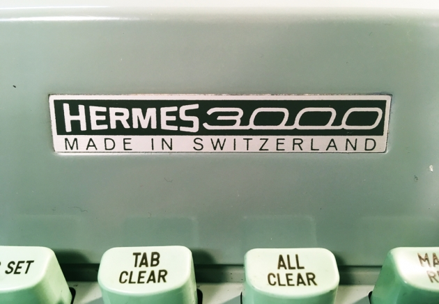 "Hermes ""3000"" detail of the logo up front..."
