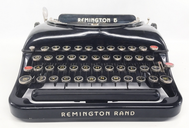 "Remington ""Model 5 Streamline"" from the front..."