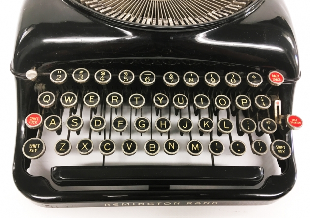 "Remington ""Model 5 Streamline"" from the keyboard..."