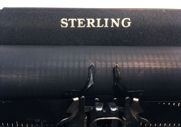 """Smith Corona """"Sterling"""" logo on the top..."""