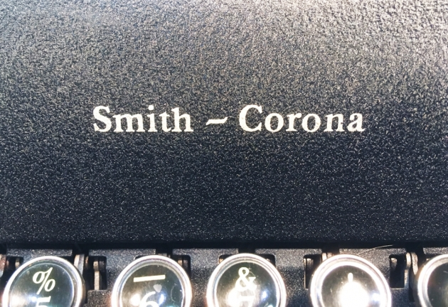 """Smith Corona """"Sterling"""" from the logo up front..."""