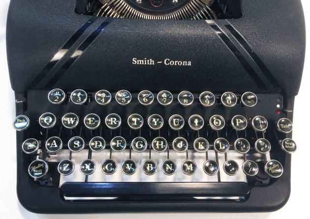 """Smith Corona """"Sterling"""" from the keyboard..."""