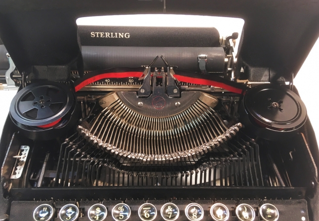 """Smith Corona """"Sterling"""" from under the hood..."""
