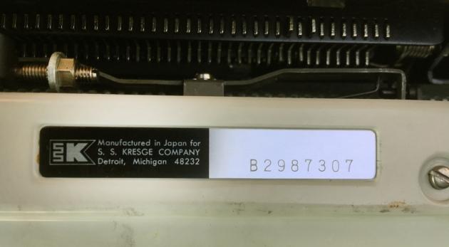 "Wedgefield ""200"" serial number location..."
