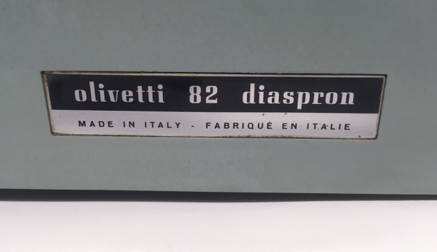 "Olivetti ""Diaspron 82"" from the back (detail)..."