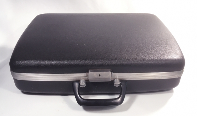 """Smith Corona """"Golden Shield Diplomat"""" travel case that will double as an Attache case for the office..."""