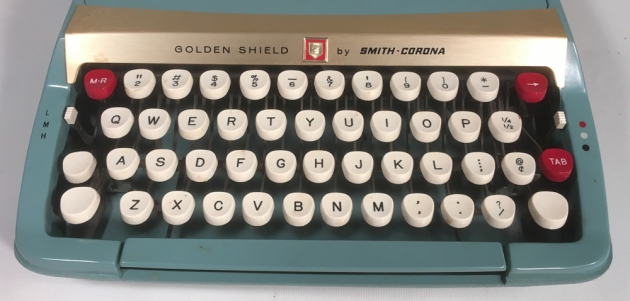 "Smith Corona ""Golden Shield Diplomat"" from the keyboard..."