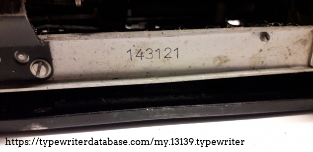 The serial number refers to 1951