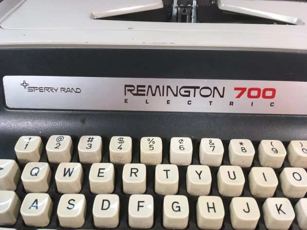 "Remington ""700 Electric"" logo on the front center..."