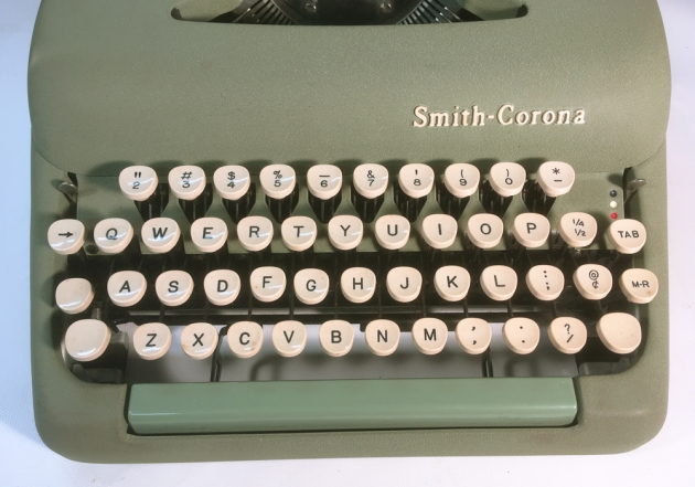 "Smith Corona ""Sterling"" from the keyboard..."