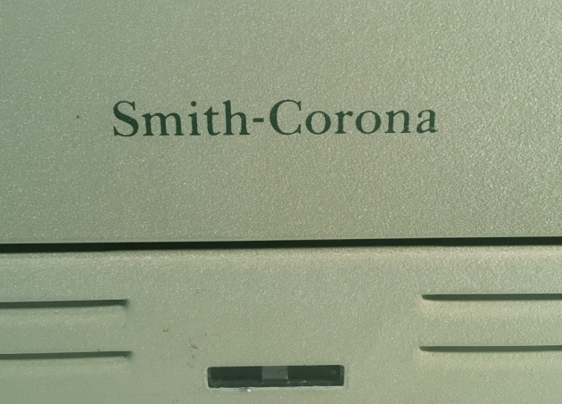 "Smith Corona ""Sterling"" from the back (logo detail)..."