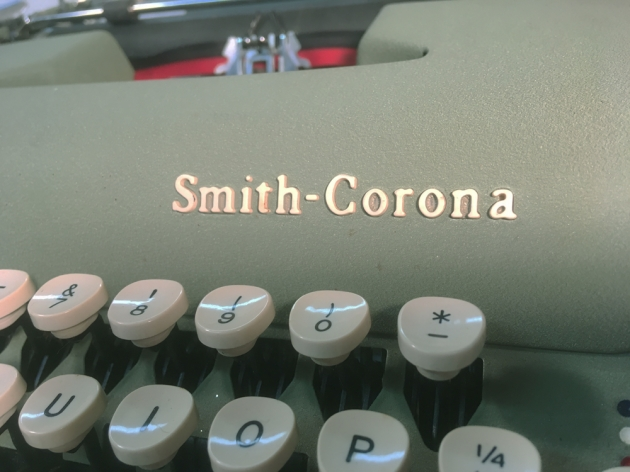 "Smith Corona ""Sterling"" from the maker logo on the front..."