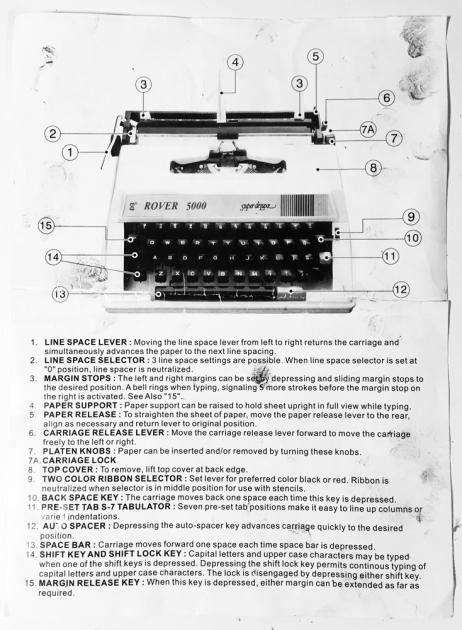 "Rover ""5000 Super de Luxe"" manual (side 1)..."