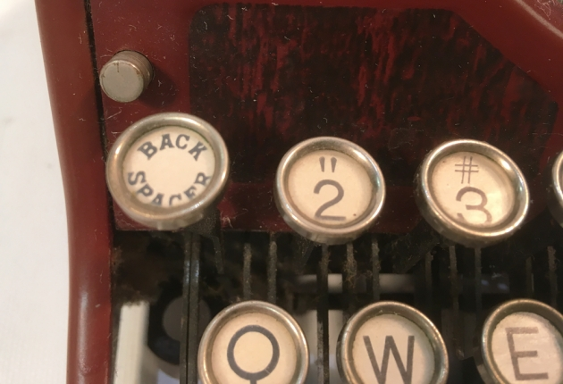 "Underwood ""Portable 4 Bank"" from the keyboard (detail)..."
