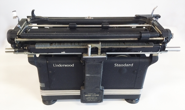 Underwood SS from the back...