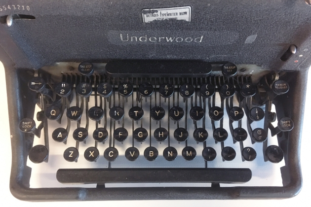 Underwood SS from the keyboard...