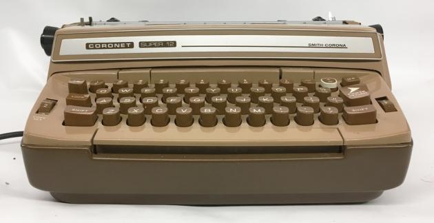"""Smith Corona """"Coronet Super 12 Coronamatic"""" from the front..."""