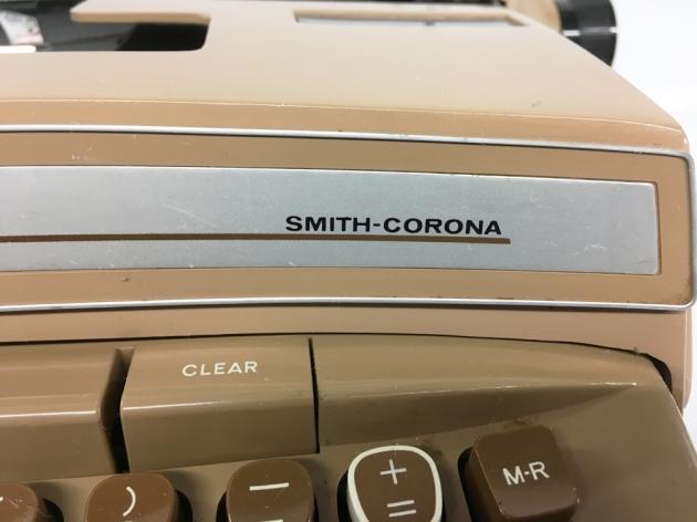 """Smith Corona """"Coronet Super 12 Coronamatic"""" from the front (detail right)..."""