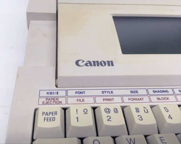"Canon ""StarWriter 30"" from the logo on the left side..."