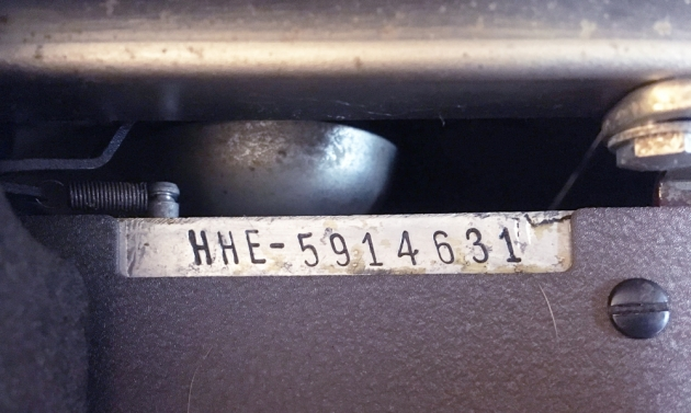 "Royal ""HE"" serial number location..."
