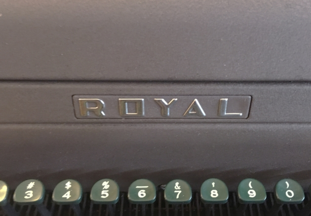 "Royal ""HE"" logo on the front..."