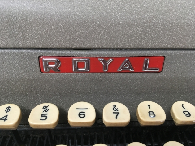 """Royal """"Quiet De Luxe"""" from the logo on the front..."""